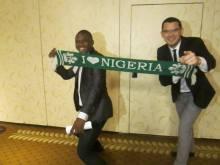 Con Mene Blessing, emprendedor Nigeriano en el 2015 Summit de GGF en Washington