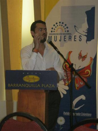 Conferencia a la organización Nacional de Mujeres en Barranquilla