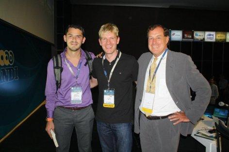 Con los conferencistas Internacionales, Bjor Lomborg y Thomas C. Heller, especialistas en cambio climático.