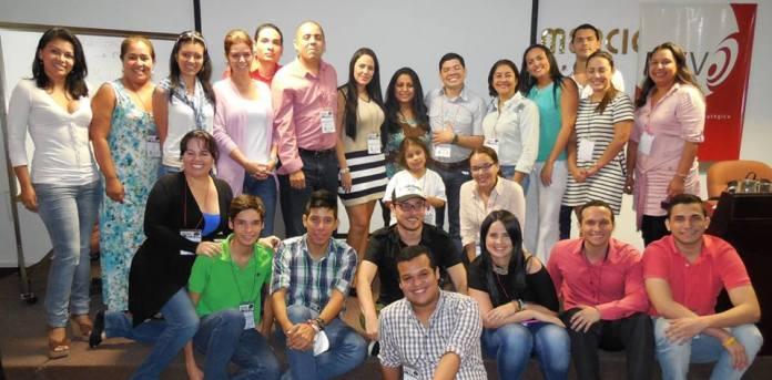 Con emprendedores de la ciudad de Barranquilla después de una de las conferencias