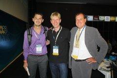 Con los conferencista Internacionales, Bjor Lomborg y Thomas C. Heller especialistas en cambio climático
