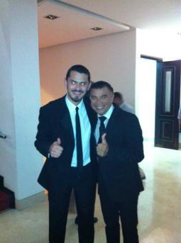 Con Juan Carlos Coronel, representante d ela música colombiana