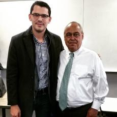 Workshop con Camilo Gomez, ex comisionado de Paz y fórmula vice-presidencial del partido conservador (2014), en George Washington University.