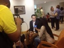 Compartiendo con medios de Barranquilla acerca de emprendimiento