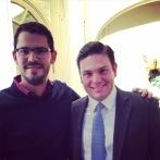 Con nuestro actual embajador en Estados Unidos Juan Carlos Pinzón y mi profesor de Macroeconomía 1 en la Universidad Javeriana.