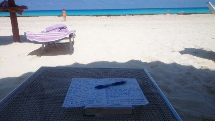 """""""3:32pm, Cancún, México. He creado mi primer blog post, y sin un computador"""""""